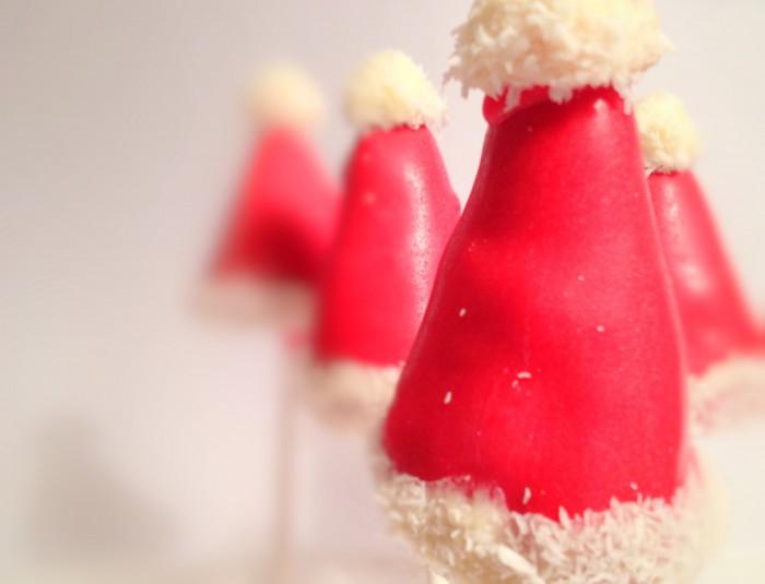 weihnachtsm tzen cakepops. Black Bedroom Furniture Sets. Home Design Ideas